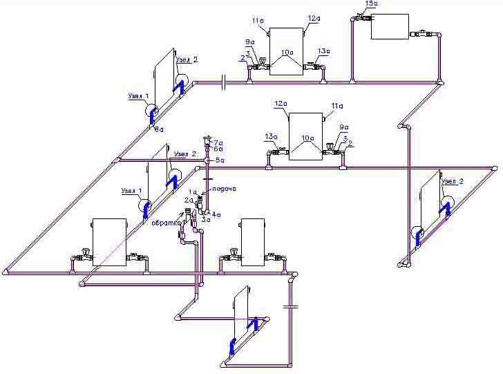 Схема отопления своими руками видео
